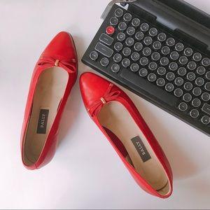 Red Bally Belle Flats